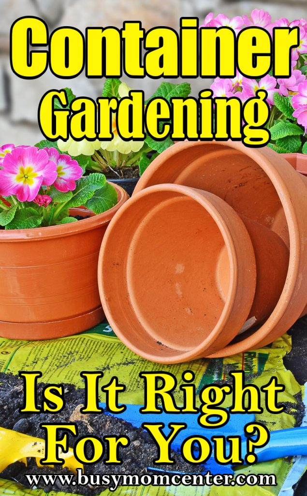 Container Gardening Is It Right For You
