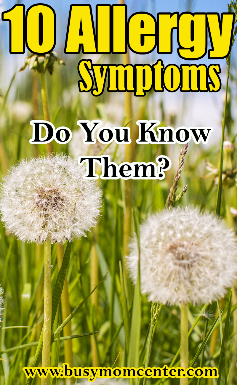 Allergy Symptoms Do You Know Them