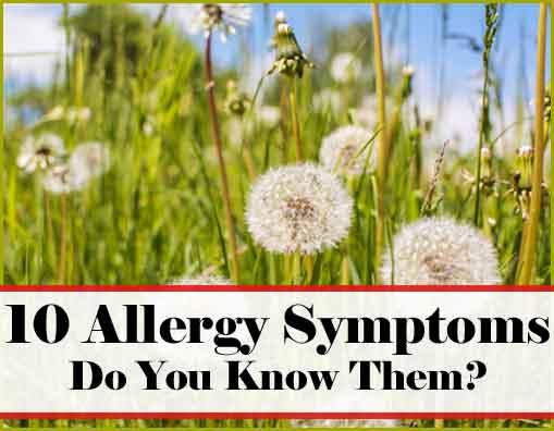 10 Allergy Symptoms