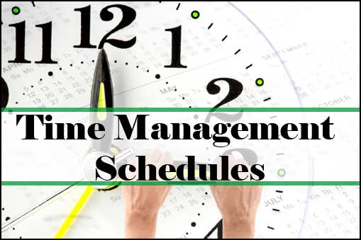 Time Management Schedules  Time Management