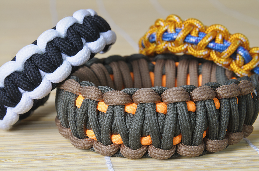 Paracord uses - bracelets made from paracord.