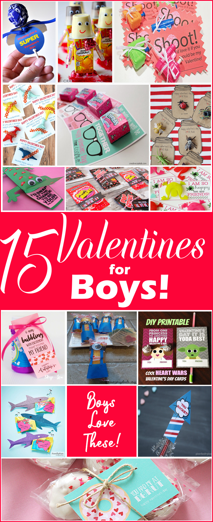 15 Valentines for Boys