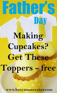 Free Fathers Day Cupcake Toppers